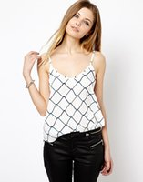 barbed s - Sexy Women Clothing New Brand Fashion Women Tops Plaid Digital Print Barbed Wire Pattern Halter V Neck Sexy Camis Plus Size
