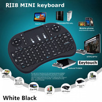 Wholesale 2 G Touch Fly Air Mouse chargeable battery USB Cable Black and White Portable G Rii Mini i8 Wireless Keyboard Mouse Combo Touchpad PC