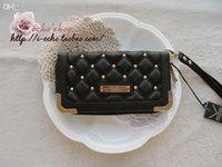 Wholesale Kim Kardashian kollection long design rivet plaid wallet kk women s wallets clutch bag carteira feminina