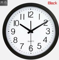 Wholesale M24 quot quartz sweep movement living mute wall clock fashion design brief living room wall clock