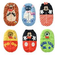 baby sack pattern - Baby Sleeping Bag Cartoon Minnie Mouse Baby Envelope Swaddle Blanket Sleep Sack Coral Fleece Infant Sleeping Bag for Stroller