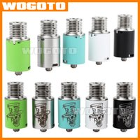 Replaceable hatter - Mad Hatter RDA Atomizer Fold Drip Tips RDA Electronic Cigarette Atomizer Stainless Steel Green Blue Black White Mad Hatter RDA