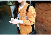 Wholesale Stand Collar Embroidery Letter Long Tench Coat Autumn Baby Girls Fashiion Casual Outcoat Top Colors B0672