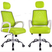 mesh chair office chair - Simple Adjustable Mesh Fabric Computer Desk Staff Chair Free Rotating Chairs Office School Business Swivel Chair Furniture