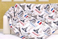 anti worm - Good Flannel Blanket Adult Spring Worm Cover France Tower Quilts Home Super Soft Coral Fleece French Flag Blankets On The Bed