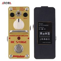 acoustic guitar effect pedal - AROMA AAS AC Stage Acoustic Guitar Simulator Mini Single Electric Guitar Effect Pedal with True Bypass