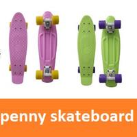 Wholesale 32pcs mini cruiser plastic skateboard Penny Skateboards Nickel Complete Skateboard penny nickel board skateboard penny
