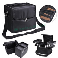 artist squares - New Side Square Makeup Case Makeup Bag Soft Train Handbag Artist Brush Cosmetic Organizer Storage Box Black US