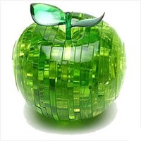 big apple fresh - Fresh Green Color Intelligence Toys Spilcing Assembly Cute Apple Shaped Intelligence Toy Made In China Home Decoration
