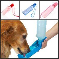 Wholesale Potable Pet Dog Cat Water Feeding Drink Bottle Dispenser ml Pet Water Dispenser Blue Red Pink