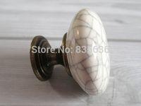 antique nickel cabinet hardware - Ceramic Knobs Kitchen Cabinet Knobs Dresser Drawer Knobs White Crackle Antique Bronze Furniture Door Hardware Porcelain