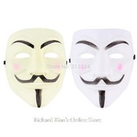Wholesale Cosplay Mask V For Vendetta Mask Anonymous Movie Guy Fawkes Halloween Masquerade Party Face March Protest Costume Accessory