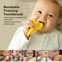 Wholesale Banana Teether For Baby High Quality Silicone Toothbrush Enviromental Teethers Teething Ring Bebes De Pinceis Softy Silica Gel Infant Soothe