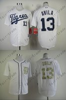 alex tiger - 2015 Detroit Tigers Jerseys Alex Avila Mens White Cool Base Stitched Authentic Baseball Jerseys Embroidery Logo