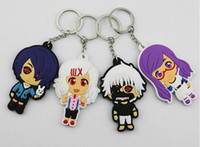 Wholesale New Japanese Anime Tokyo Ghouls Keychains Pendants PVC Figure Toys Two sided Dolls cm