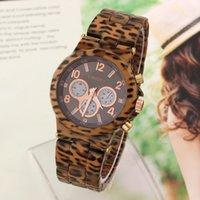 Wholesale Casual Fashion Watches KINGSKY Leopard Band Quartz Wristwatch Unisex Clocks New Analog Hardlex Round Dial Hot Sale
