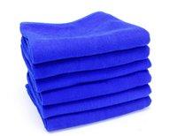 Wholesale via DHL Blue x70cm Microfiber Towel Car Cleaning kitchen towel ultra absorbent Washing Cloth Car