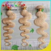 #613 100g Body Wave New Arrival #613 Blonde Color Brazilian Body Wave Hair Extension 3pcs 12-26inch 3.5oz Human Hair Weave Body Wave Free Shipping