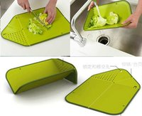 Wholesale 500PcsMulti purpose folding waterlogging caused by excessive rainfall plastic cutting chopping block board kitchen supplies