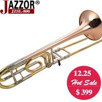 b flat trombone - high quality Professional Tenor trombone B Flat JAZZOR JZSL tuning slide trombone with mouthpiece case gloves