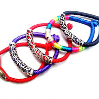 Wholesale In Stock Silver Bracelets Tennis Colors DIY Knitting Rope Vintage Design Tennis for Four Season Fashion Ladies Tennis for A1