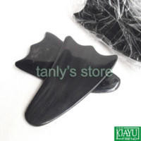 Wholesale pieces Multifunction big triangle arms legs and neck massage guasha board Scrapping plate Buffalo Horn