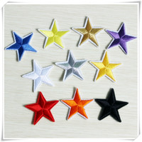 Wholesale Star Patches colors Iron on Sew on Military Silver Gold White Star Patch Set Logo Embroidered Appliques custom made