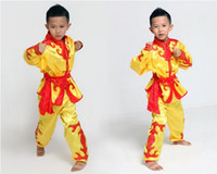 art apparel - Take children s wushu martial arts clothing The boy uniforms costumes embroidered dragon packages marvel select theme costume apparel
