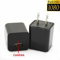 Wholesale 16GB FULL HD x1080P No Hole Spy Hidden Camera USB Wall Charger DVR Hidden Spy Camera Nanny Spy Camera Adapter