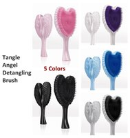 angels heaven - Tangle Angel Professional Detangling Hair Brush Combs AntiBacterial Anti Static Heat Resistant Salon Elite Heaven Sent Hair Brushes