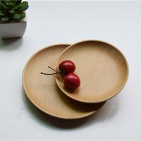 Wholesale MUXING Solid Wood Plates Fashion Japanese Style Cooking Tools cm Burlywood Cedarwood Sushi Plates Cake Dishes MOQ Piece