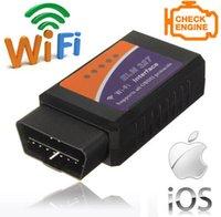Wholesale ELM327 OBD WiFi Auto Car Diagnostic Tool for IPHONE Android Phones Black Orange Blue