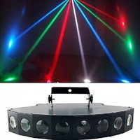 Wholesale 8pcs W LED DMX Intelligent Control Laser Light Show Projector Stage Lighting Wedding DJ Bar Disco Effect Lights Top Quality