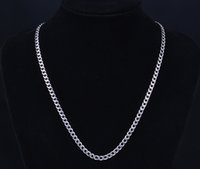 stainless steel jewelry mens necklace - Classical design L New Stainless Steel Necklace chain silver Curb Cuban Chain Necklace Mens jewelry fancy Christmas gift mm quot to quot