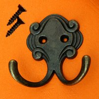 zinc alloy hook coat hook door pastoral retro back hat decoration single hook antique bronze brass wall hook brass coat hook pieces