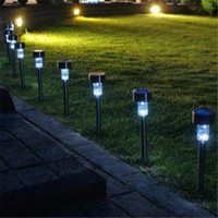 Wholesale LED Solar Lights Solar Lawn Light Plastic Garden Outdoor Sun Light Corridor Lamp Outdoor Garden Party Lamp Solar Powered Colored Solar Lam