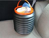 Wholesale 4L High quality Folding telescopic plastic bucket car trunk debris bucket storage bucket pc
