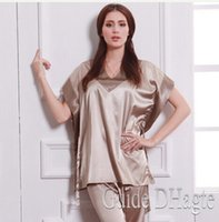 Wholesale Women Brand Nightgown Pajamas Set Silk Sleepwear Set Brand Women Pajamas High Quality Pajamas