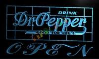 dr pepper - LA076 TM Dr Pepper Drink OPEN Bar Neon Light Sign Advertising led panel jpg