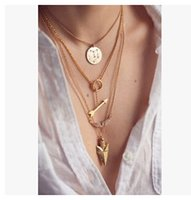 Wholesale Hot Sale Women Fashion Necklaces Lady Multi layered Necklace Girl Multi layered Necklaces Big Girl Jewelry Popular Multi Layered Necklace