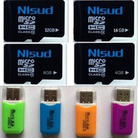 Wholesale 2015 GB GB GB GB TF Flash Memory Card Class Micro SD SDHC Card READER pieces