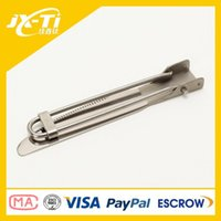 Wholesale Gr2 Outdoor rustless eco friendly folding Titanium Knife anti corrosion portable Portable Folding Flatware for hiking and camping