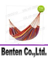 Cheap llfa929 Free Shipping Double camping hammock swing outdoor upset canvas hammock indoor recreational crane qwased
