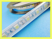 Wholesale waterproof IP65 SMD LED strip light LED soft strip DC12V SMD5050 led M IP65 silicon tube waterproof