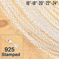 Wholesale Fashion Jewelry Chain Sterling Silver Rolo Chain Vintage Necklace Solid Silver Chains Fit Pendant Hot Sale Inch