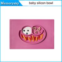 Wholesale ezpz Happy Mat Coral One piece silicone placemat plate HM000 BRAND without logo DHL free