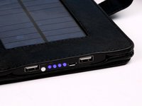 solar phone case - NEW mAh Solar Power Bank Leather Phone Case For ipad2 Portable Solar Charger