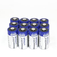 powerful flashlight - 12pcs powerful mAh Lithium li ion CR123A V photo Battery EL123A CR17345 a Volt battery for camera flashlight