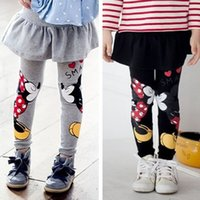 Wholesale Baby Girls Leggings Winter New Velvet Children Leggings Girls Pants Warm Character Kids Pantskirt Baby Girls Dress Leggings