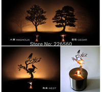 Wholesale Pieces Creative Lumen Oil Candle Shadow Projectors LED Shadow Lamp styles
